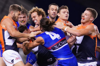 The AFL match review officer is likely to hand out thousands of dollars in fines after a fiery clash.