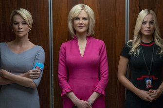 Charlize Theron, Nicole Kidman and Margot Robbie in Bombshell.