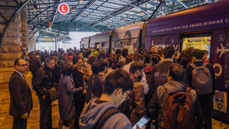 """The """"sensitive"""" documents warn of """"most, if not all, services"""" reaching """"crush capacity"""" by 2021 without trams running every six minutes during peak periods."""