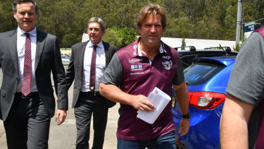 One of a kind: Manly coach Des Hasler has been back to his wacky best.