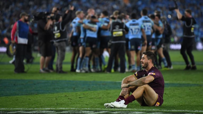 Reprieve: Ben Hunt remains in the Maroons squad but moves to the bench.