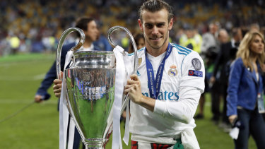 Reigning champions: Gareth Bale with the UEFA Champions League trophy.