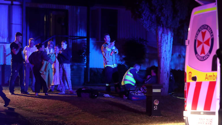The scene of Thursday night's fatal house fire at Mount Warrigal.