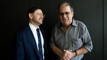 Professor John Rasko and mesothelioma sufferer, Tony Biddle.