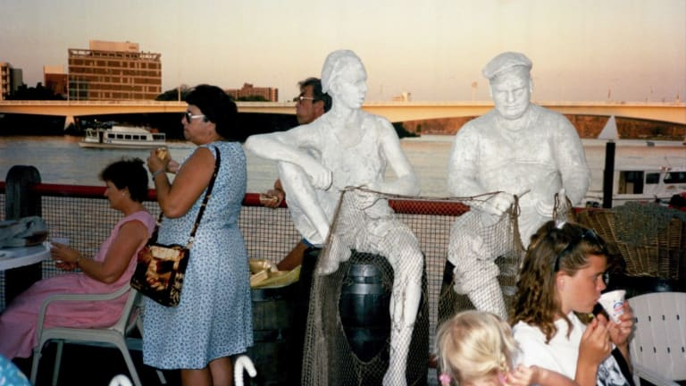 One of the 88 Artbuster statues which were commissioned for World Expo 88. They ave slowly gone missing from Brisbane's streets.