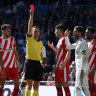 Ramos sent off in shock Real Madrid defeat to Girona
