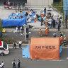 Primary school children stabbed outside park near Tokyo