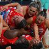 Swifts dedicate 'incredible' grand final win to locked-down NSW