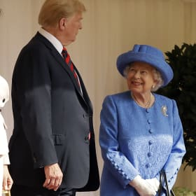 Was the Queen subtly trolling Donald Trump with her jewellery?