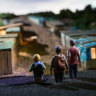 Tiny 'theatre' shows refugee crisis in a new light