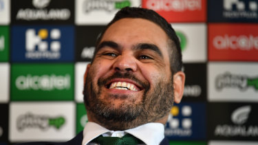 Just beginning: Greg Inglis announces his retirement on Monday.