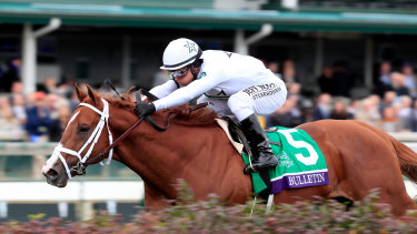 Bulletin stretches out to win Breeders Cup Juvenile Turf Sprint in 2018