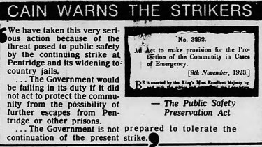 Extract from The Age published on August 6, 1983