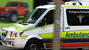 A woman was taken to hospital in a serious condition.