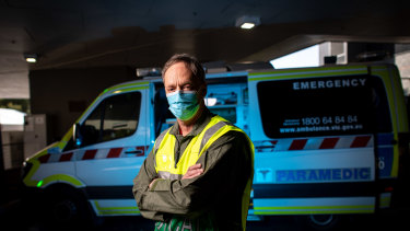 Professor John Moloney is an emergency field doctor who has been helping transport and treat elderly patients at aged care homes during the crisis.