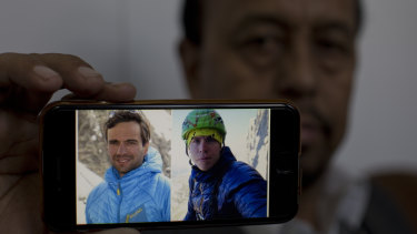A picture of two missing climbers, Briton Tom Ballard, right, and Italian Daniele Nardi.