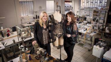 Co-founders of AB Enterprises Helen Anderson ( left ) and Lara Brockhurst.