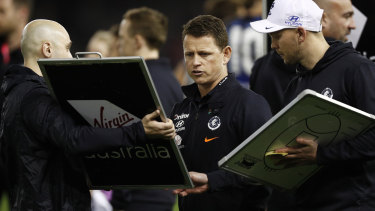 Blues coach Brendon Bolton said morale is not an issues among players, it's skills error.