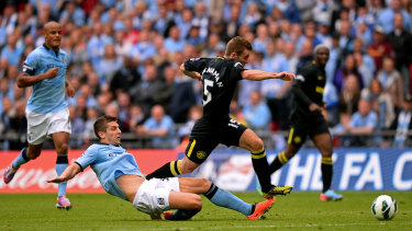 Callum McManaman in his Wigan days was man of the match in their massive FA Cup final win over Manchester City in 2013.