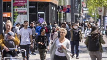 Just like old times: Berlin's popular shopping boulevard Kurfuerstendamm on Wednesday.