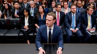 Facebook CEO Mark Zuckerberg  testified before US Congress last year.