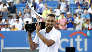 Nick Kyrgios won last year's Citi Open, but the event has been cancelled for 2020.
