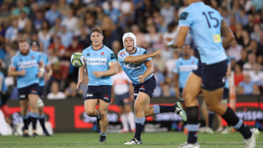 Out of his depth: replacement playmaker Mack Mason had a night to forget for the Waratahs.