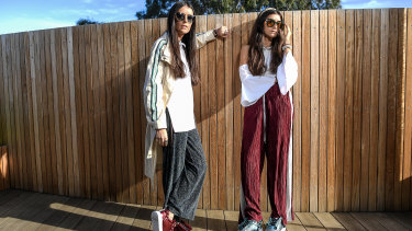 Best vegan foot forward ... Stef (left) and Jess Dadon market their Twoobs brand as 'animal friendly'.