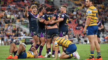Melbourne gave Parramatta a touch-up during Magic Round.