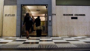 Selborne Chambers in Sydney's CBD, where Deyson Heydon has his office.