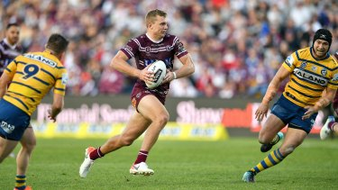 Tom Trbojevic starred again for Manly in their win over Parramatta on Sunday at Brookvale.