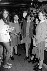 Brooke Shields meets some fans in a Rose Bay stationery store, August 10, 1979.