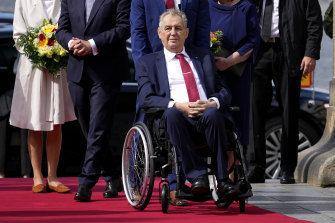 Czech Republic's President Milos Zeman has been taken to hospital the day after the national election.