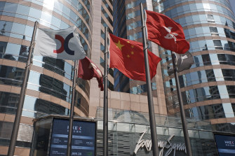 Evergrande Group shares were halted on the Hong Kong market today.