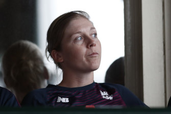 Heather Knight is in hotel isolation in Adelaide.