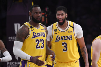 Lakers duo LeBron James (left) and Anthony Davis.