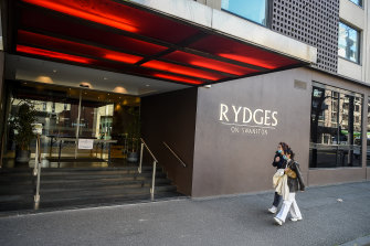 The Rydges on Swanston hotel - the main source of Victoria's second coronavirus wave.