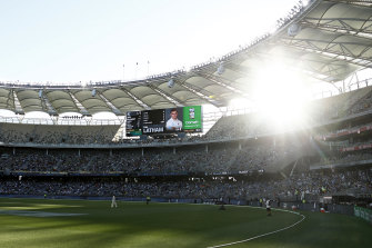 Australia made hay while the sun shone - very brightly - removing New Zealand opener Tom Latham on Friday.