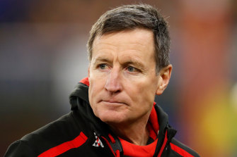 Essendon coach John Worsfold is self-isolating in Western Australia for two weeks.