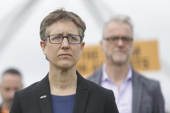 ACTU secretary Sally McManus will be in Canberra this week, lobbying to try to stop the government's industrial laws.