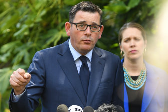 Premier Daniel Andrews accused the opposition of playing politics with the royal commission's report.