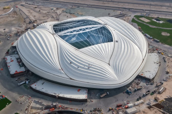 Al Wakrah Stadium, a 40,000 seat venue, is readying for the 2022 world cup.