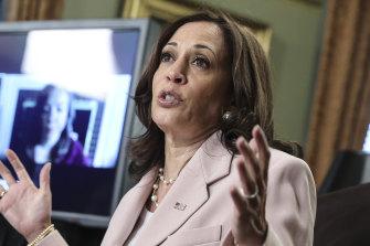 US Vice President Kamala Harris compared the Texas Democrats to anti-slavery crusader Frederick Douglass.