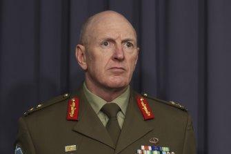 COVID-19 taskforce commander Lieutenant-General John Frewen.
