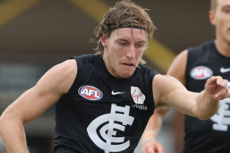 New face: former Giant Will Setterfield will play his first game for Carlton