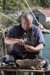 Bode Sare, the owner of highly regarded seafood restaurants in Croatia (and a former weapons smuggler), in Mali Ston, Croatia.