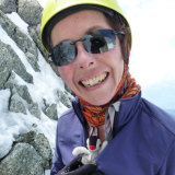 Ruth McCance with her toy penguin, which was retrieved by the search team along with GoPro footage.