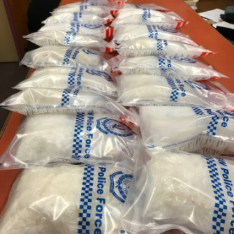 A NSW Police haul of ice, seized at Balranald.
