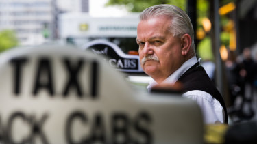 Taxi driver Rod Barton is part of a class action against Uber.