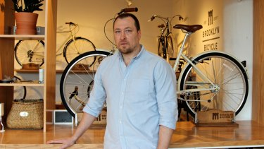 Ryan Zagata, founder of Brooklyn Bicycle Co, at the company's offices in New York.